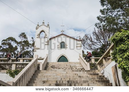 Architectural Detail Of The Chapel Of S. Lourenco Offering A Panoramic View Of Esposende