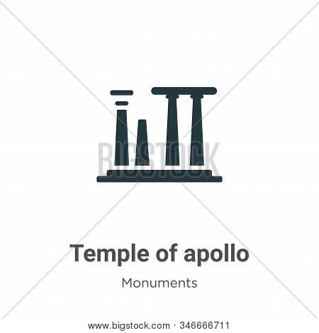 Temple of apollo icon isolated on white background from monuments collection. Temple of apollo icon