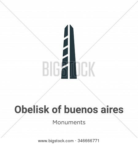 Obelisk of buenos aires icon isolated on white background from monuments collection. Obelisk of buen