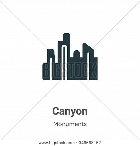 Canyon icon isolated on white background from monuments collection. Canyon icon trendy and modern Ca
