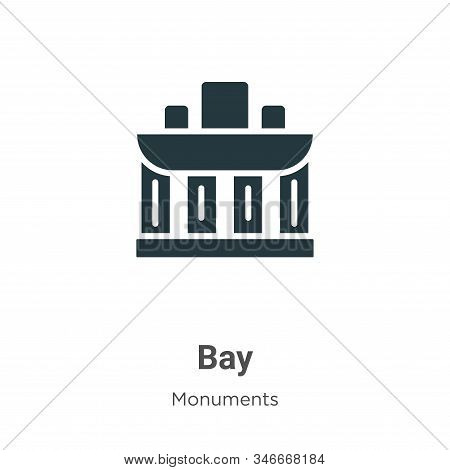 Bay icon isolated on white background from monuments collection. Bay icon trendy and modern Bay symb