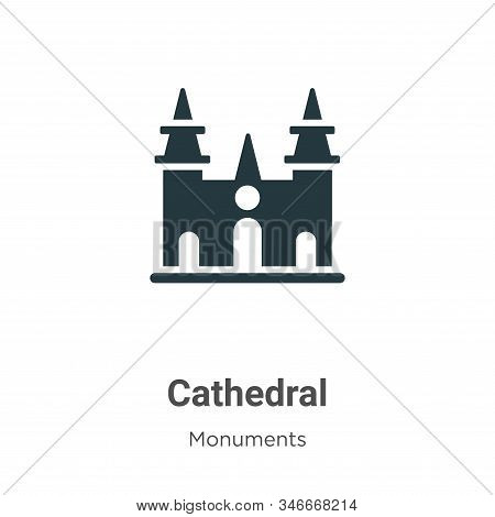 Cathedral icon isolated on white background from monuments collection. Cathedral icon trendy and mod