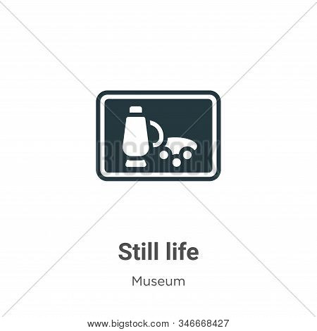 Still life icon isolated on white background from museum collection. Still life icon trendy and mode