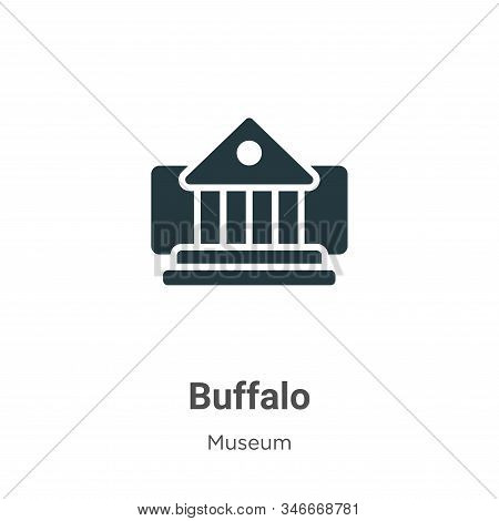 Buffalo icon isolated on white background from museum collection. Buffalo icon trendy and modern Buf