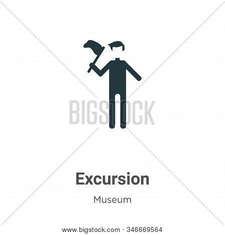 Excursion Glyph Icon Vector On White Background. Flat Vector Excursion Icon Symbol Sign From Modern