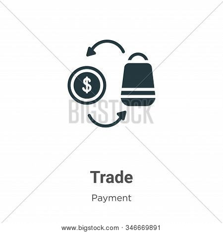 Trade icon isolated on white background from payment collection. Trade icon trendy and modern Trade