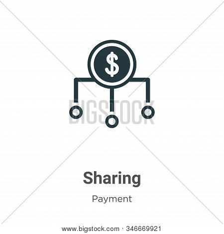 Sharing icon isolated on white background from payment collection. Sharing icon trendy and modern Sh