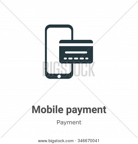 Mobile payment icon isolated on white background from payment collection. Mobile payment icon trendy