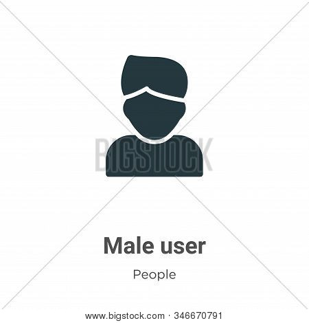 Male user icon isolated on white background from people collection. Male user icon trendy and modern