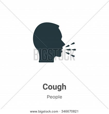 Cough icon isolated on white background from people collection. Cough icon trendy and modern Cough s
