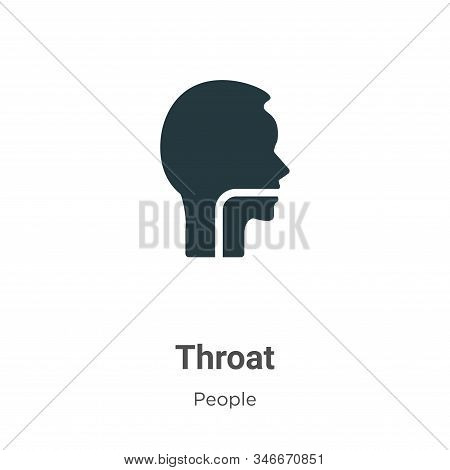 Throat icon isolated on white background from people collection. Throat icon trendy and modern Throa