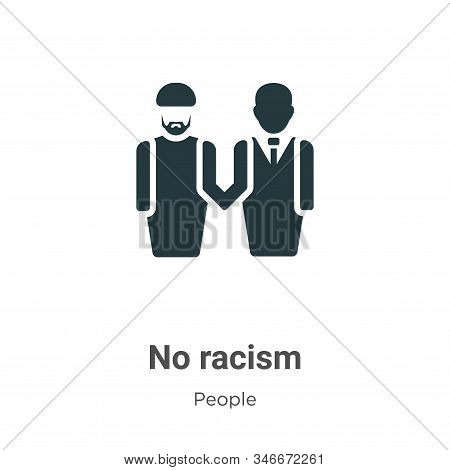 No racism icon isolated on white background from people collection. No racism icon trendy and modern