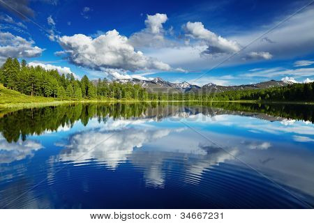 Beautiful lake in Altai mountains