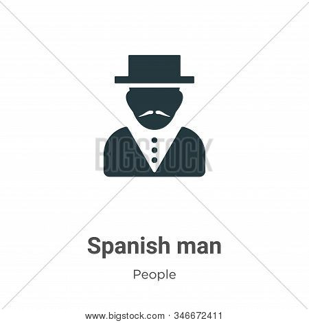 Spanish man icon isolated on white background from people collection. Spanish man icon trendy and mo