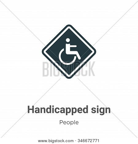 Handicapped sign icon isolated on white background from people collection. Handicapped sign icon tre
