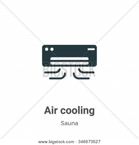 Air cooling icon isolated on white background from sauna collection. Air cooling icon trendy and mod