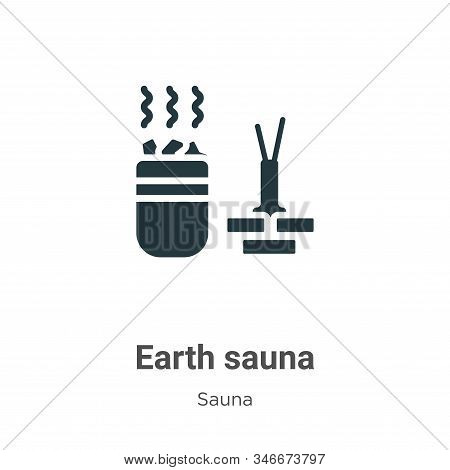 Earth sauna icon isolated on white background from sauna collection. Earth sauna icon trendy and mod