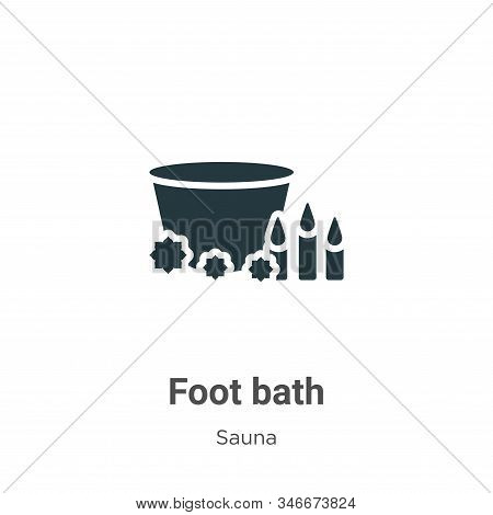 Foot bath icon isolated on white background from sauna collection. Foot bath icon trendy and modern