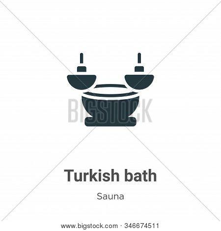 Turkish Bath Glyph Icon Vector On White Background. Flat Vector Turkish Bath Icon Symbol Sign From M