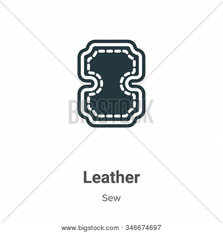Leather Glyph Icon Vector On White Background. Flat Vector Leather Icon Symbol Sign From Modern Sew
