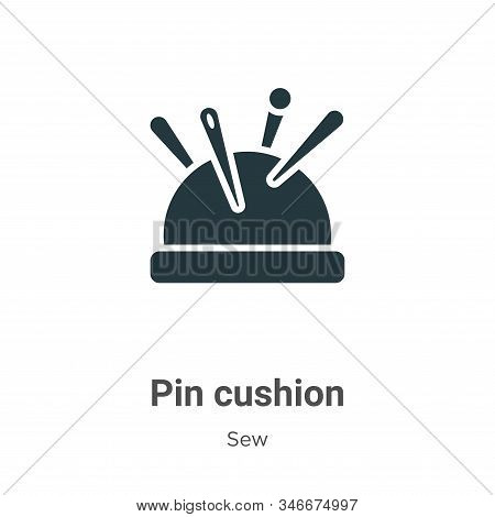 Pin cushion icon isolated on white background from sew collection. Pin cushion icon trendy and moder