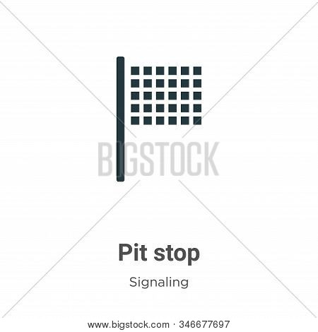 Pit stop icon isolated on white background from signaling collection. Pit stop icon trendy and moder