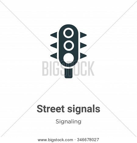 Street signals icon isolated on white background from signaling collection. Street signals icon tren