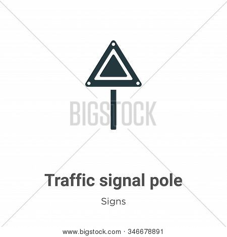 Traffic signal pole icon isolated on white background from signs collection. Traffic signal pole ico