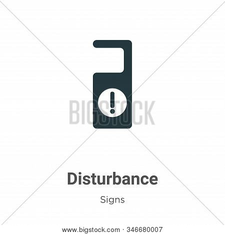 Disturbance icon isolated on white background from signs collection. Disturbance icon trendy and mod