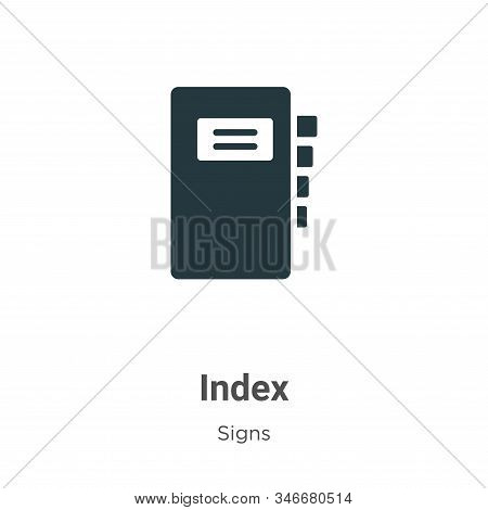Index icon isolated on white background from signs collection. Index icon trendy and modern Index sy