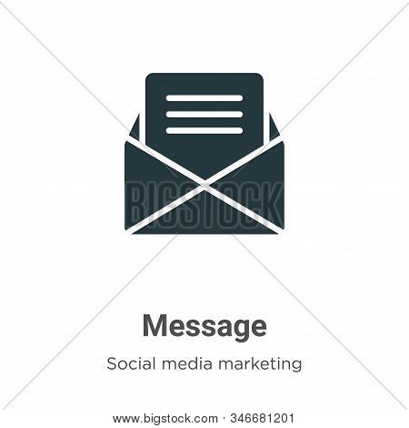 Message icon isolated on white background from social media marketing collection. Message icon trend