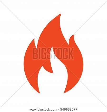Fire Flame Logo Vector Illustration Design Template. Vector Fire Flames Sign Illustration Isolated.