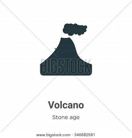 Volcano icon isolated on white background from stone age collection. Volcano icon trendy and modern
