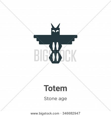 Totem icon isolated on white background from stone age collection. Totem icon trendy and modern Tote