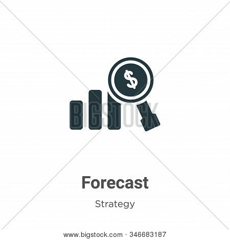 Forecast Glyph Icon Vector On White Background. Flat Vector Forecast Icon Symbol Sign From Modern St