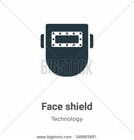 Face shield icon isolated on white background from technology collection. Face shield icon trendy an