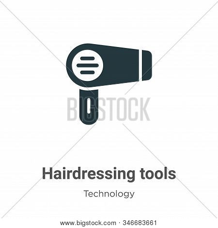 Hairdressing tools icon isolated on white background from technology collection. Hairdressing tools