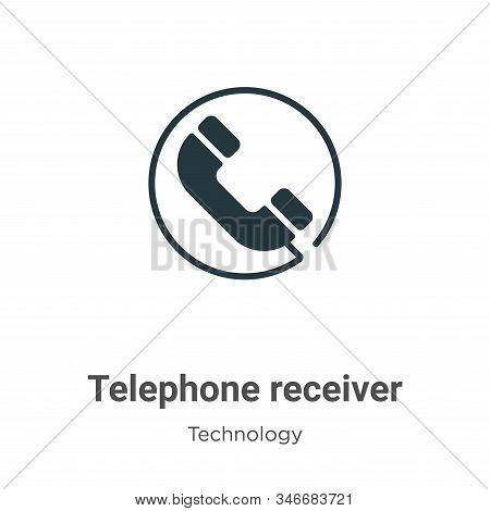 Telephone receiver icon isolated on white background from technology collection. Telephone receiver
