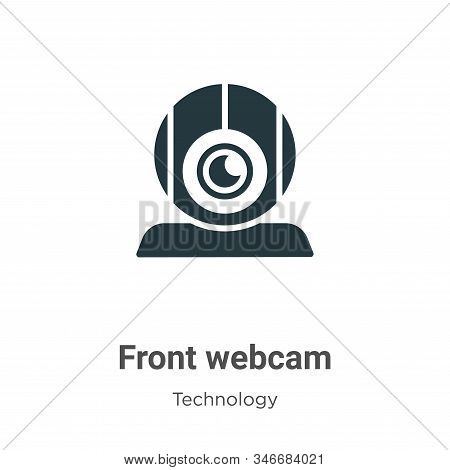 Front webcam icon isolated on white background from technology collection. Front webcam icon trendy