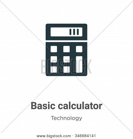 Basic calculator icon isolated on white background from technology collection. Basic calculator icon