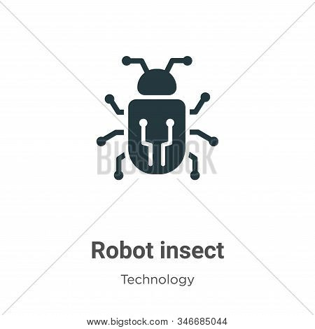 Robot insect icon isolated on white background from technology collection. Robot insect icon trendy