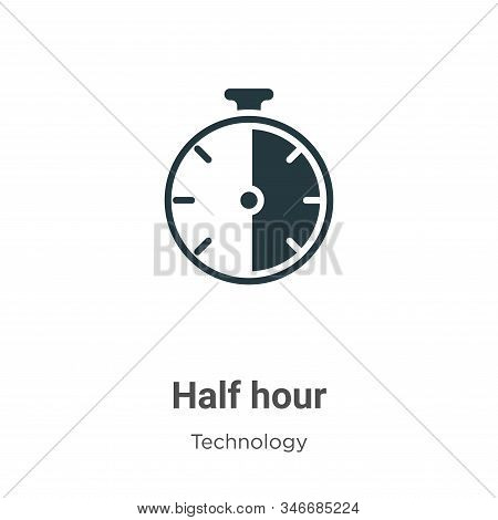Half hour icon isolated on white background from technology collection. Half hour icon trendy and mo