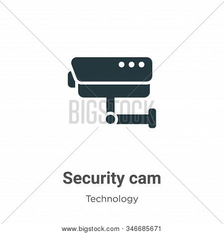 Security cam icon isolated on white background from technology collection. Security cam icon trendy