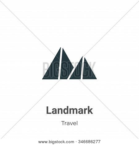 Landmark icon isolated on white background from travel collection. Landmark icon trendy and modern L