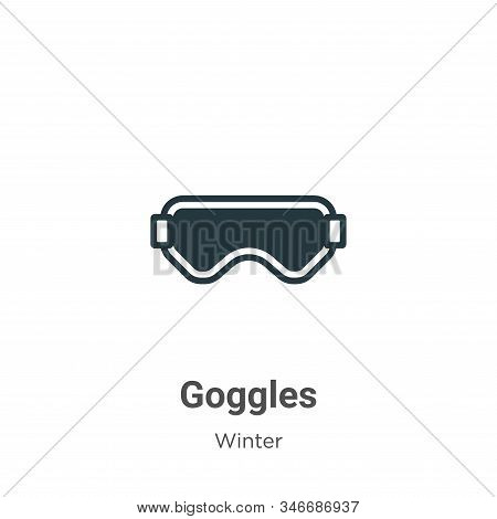 Goggles icon isolated on white background from winter collection. Goggles icon trendy and modern Gog