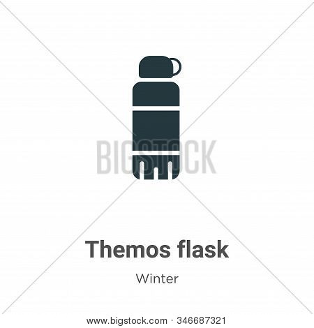 Themos flask icon isolated on white background from winter collection. Themos flask icon trendy and