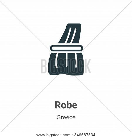 Robe Glyph Icon Vector On White Background. Flat Vector Robe Icon Symbol Sign From Modern Greece Col