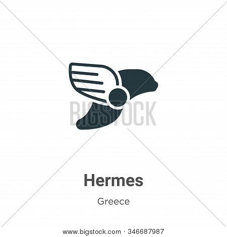 Hermes icon isolated on white background from greece collection. Hermes icon trendy and modern Herme