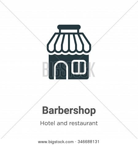 Barbershop icon isolated on white background from hotel and restaurant collection. Barbershop icon t