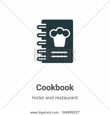 Cookbook icon isolated on white background from hotel and restaurant collection. Cookbook icon trend